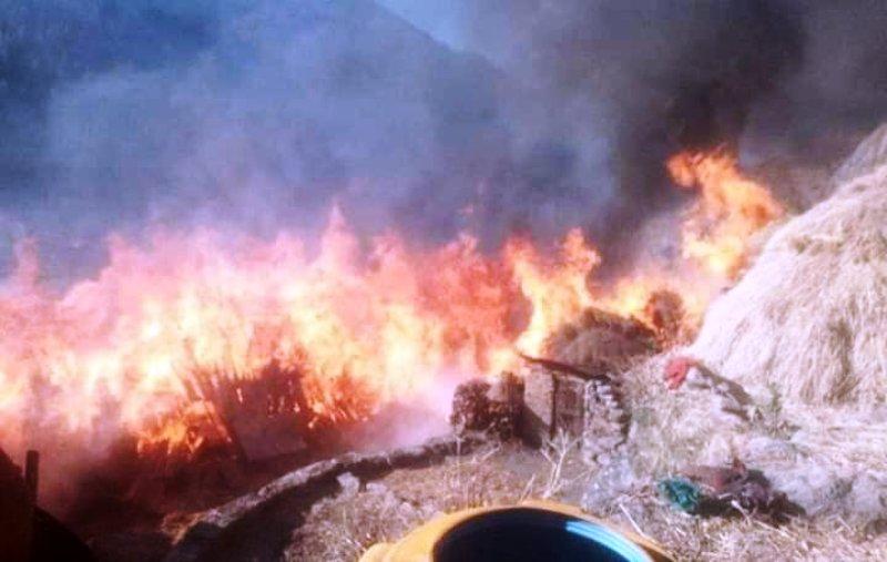 जुम्लामा ३५ र बाँकेमा २० जलेर नष्ट