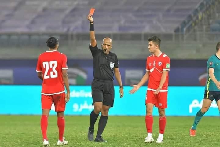 नेपाल ३-० ले पराजित, रोहितलाई रातो कार्ड