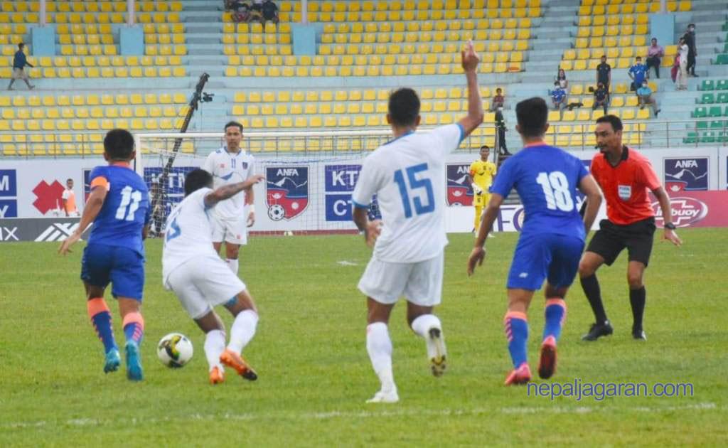 नेपाल-भारतबीचको फुटबल खेलमा सधैँ तनाव